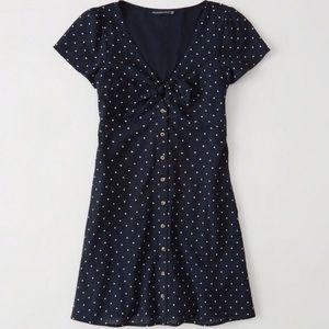 Abercrombie & Fitch Polka Dot Knot Front Dress